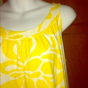 Yellow Floral Tank